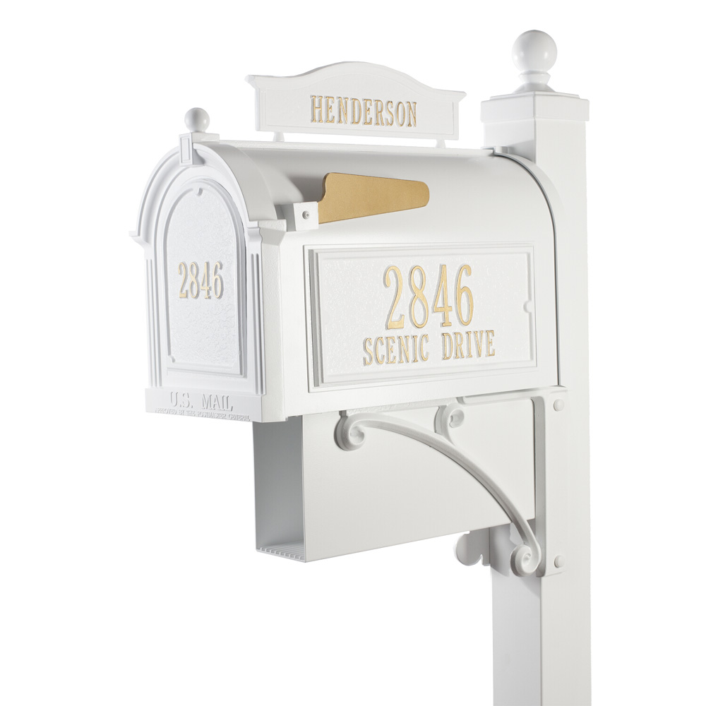 Whitehall Ultimate Mailbox Package in White