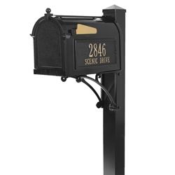 Whitehall Superior Mailbox Package in Black