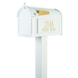 Whitehall Premium Mailbox Package in White