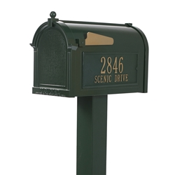 Whitehall Premium Mailbox Package in Green