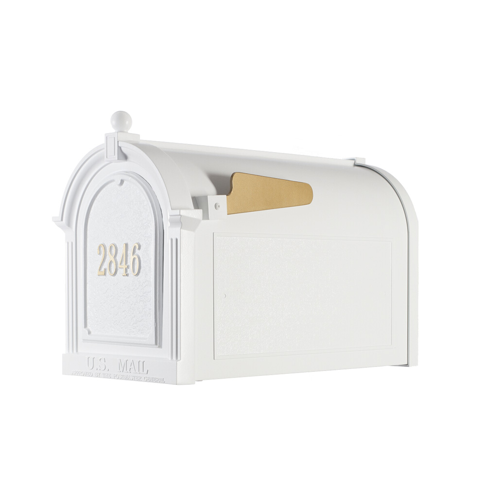 Whitehall Capitol Mailbox Door Plaque Package in White