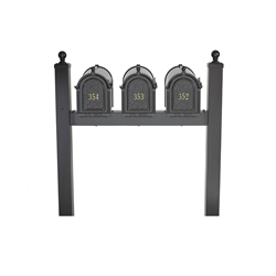 Whitehall Capitol Triple Mailbox Package in Black