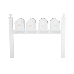 Whitehall Capitol Quad Mailbox Package in White