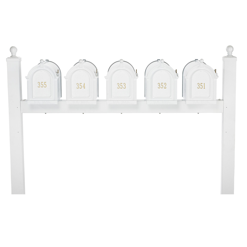 Whitehall Capitol Five Mailbox Package in White