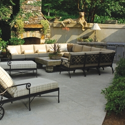 Windham Catalina U-Shaped Cast Aluminum Patio Sectional - WN-CATALINA-SET3