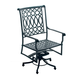 Windham Elysee Swiveling Dining Chair with Pedestal Base - 6116-A