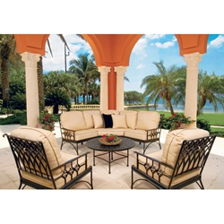 Windham Provence Curved Sectional with Club Chair Set - WN-PROVENCE-SET5
