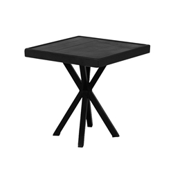"Windward Avalon Aluminum 18"" Square Side Table with X-Base - WT1825SAV"
