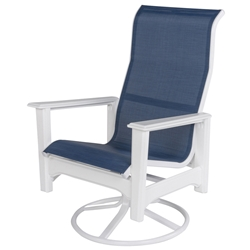 Windward Cape Cod MGP Sling High Back Swivel Rocker Dining Chair - Comfort Height - W7335HBXT