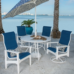 Windward Cape Cod Marine Grade Polymer Patio Dining Set for 4 - WW-CAPECOD-SET2