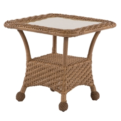 "Windward Carolina Wicker 24"" Square Side Table - WT24W29"