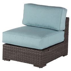 Windward Georgia Wicker Armless Lounge Chair - W43155