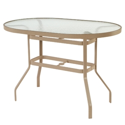 "Windward Glass 36"" x 54"" Oval Balcony Table - KD3654-36G"