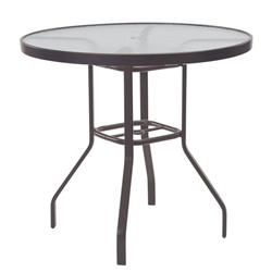 "Windward Glass 42"" Round Balcony Table with Umbrella Hole - KD4218-36GU"