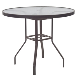 "Windward Glass 47"" Round Balcony Table with Umbrella Hole - KD4718-36GU"