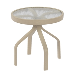 "Windward Glass 18"" Round Side Table - WT1818G"