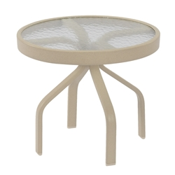 "Windward Glass 24"" Round Side Table - WT2418G"