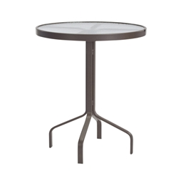 "Windward Glass 30"" Round Balcony Dining Table - WT3018-36G"