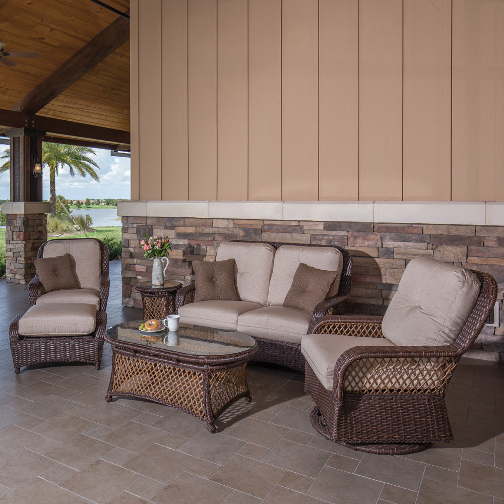 Windward Hannah Outdoor Wicker Patio Set With Two Tone