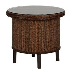 "Windward Havana Wicker 29"" Round Side Table - WT29W60"