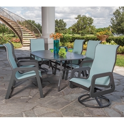 Windward Malibu MGP Sling Outdoor Dining Set for 6 - WW-MALIBU-SET1