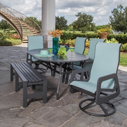 Windward Malibu MGP Outdoor Dining Set with Bench - WW-MALIBU-SET2