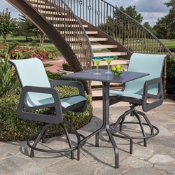 Windward Malibu MGP Sling Balcony Height Outdoor Set for 2 - WW-MALIBU-SET3