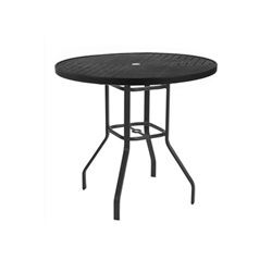 "Windward Napa Aluminum 36"" Round Balcony Table - KD3618-36NAU"