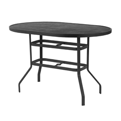 "Windward Napa Aluminum 36"" x 54"" Oval Balcony Table - KD3654-36NAU"