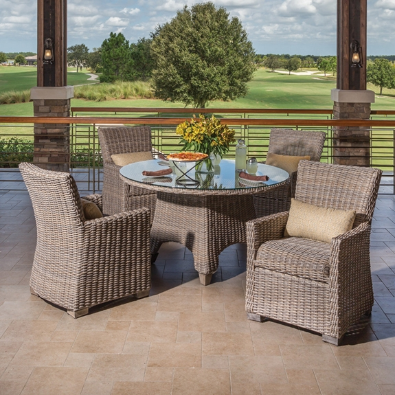 Windward Oxford Outdoor Wicker Dining Set for 4