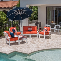 Windward Sanibel MGP Cushion Outdoor Sectional and Lounge Chair Set - WW-SANIBEL-SET1