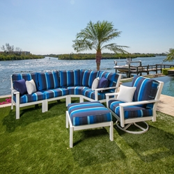 Windward Sanibel MGP Cushion L-Sectional and Swivel Rocker Lounge Chair Set - WW-SANIBEL-SET2