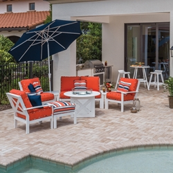 Windward Sanibel MGP Cushion Outdoor Furniture Set with Fire Table - WW-SANIBEL-SET3