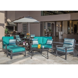 Windward Sienna MGP Deep Seating Loveseat and Lounge Chair Outdoor Furniture Set - WW-SIENNA-SET2