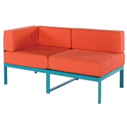 Windward South Beach Deep Seating Left Arm Sectional Loveseat - W31255L