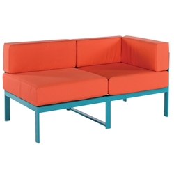 Windward South Beach Deep Seating Right Arm Sectional Loveseat - W31255R