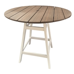 "Windward Tahoe Plank 48"" Round Balcony Table with Kingston Base - KD4605-36TP"