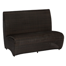 Woodard All Weather Wicker Banquette Bench - S593085