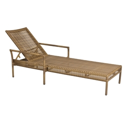 Woodard All Weather Wicker Miami Stacking Adjustable Chaise Lounge - S601061
