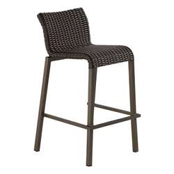 Woodard All Weather Wicker Lane Bar Stool - S605012