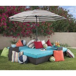 Woodard All Weather Wicker Lay n Play Patio Set - WD-WICKER-SET9