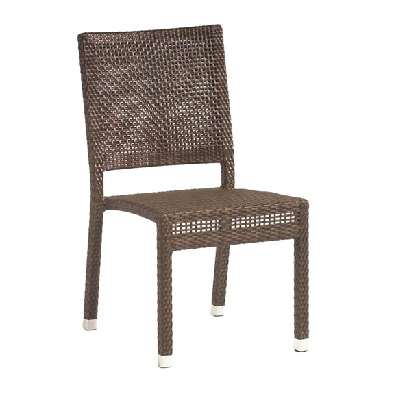 Furniture For Less Miami: Woodard All Weather Miami Wicker Dining Side Chair
