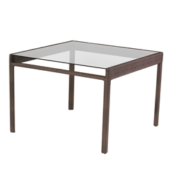 Woodard All Weather Pacific Square Glass Top Dining Table - S602702