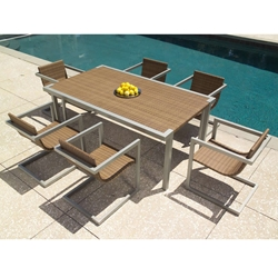 Woodard All Weather Sheridan 7 Piece Dining Set - WC-ALLWEATHER-SET4