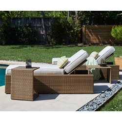 Woodard All Weather Wicker Chaise Lounge Set - WD-WICKER-SET4