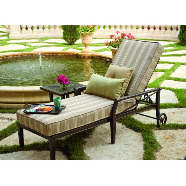 Woodard Andover Cushion Adjustable Chaise Lounge 51m470