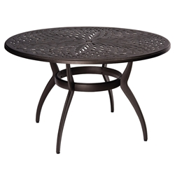 Woodard Apollo Round Umbrella Dining Table - 7U48BT