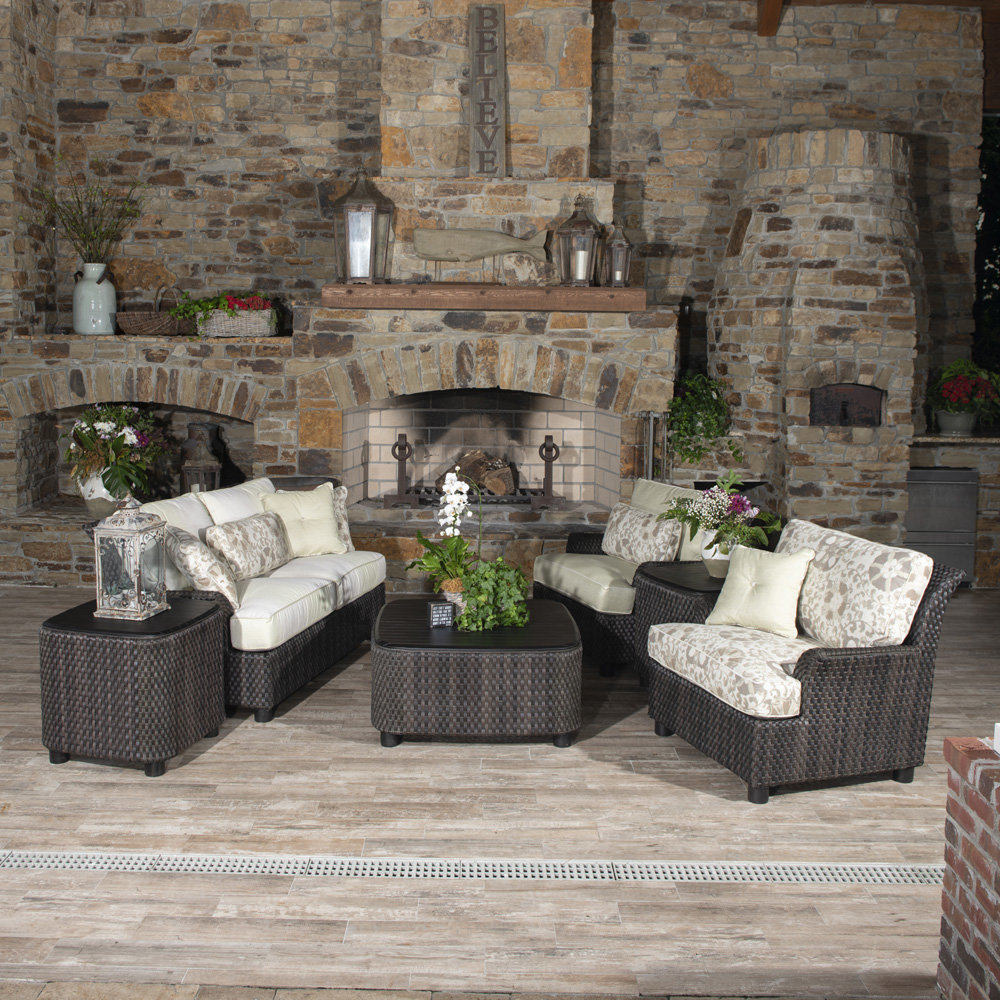 Woodard Aruba Wicker Patio Set with Loveseat and Lounge Chairs - WD-ARUBA-SET3