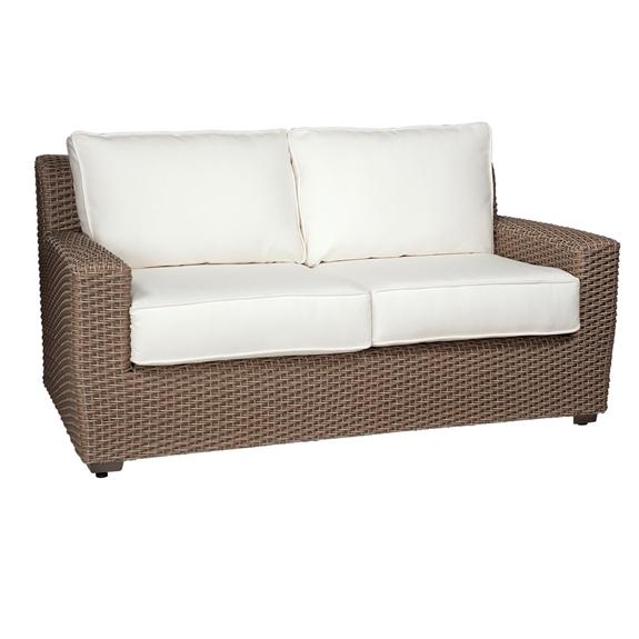 Tremendous Woodard Augusta Wicker Loveseat Alphanode Cool Chair Designs And Ideas Alphanodeonline