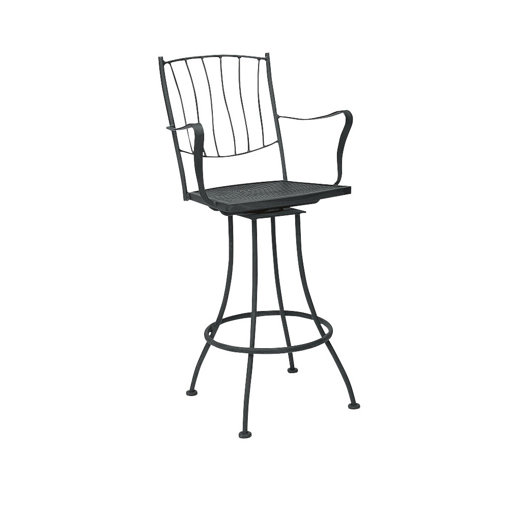 Woodard Aurora Swivel Bar Stool With Arms - 5L0388